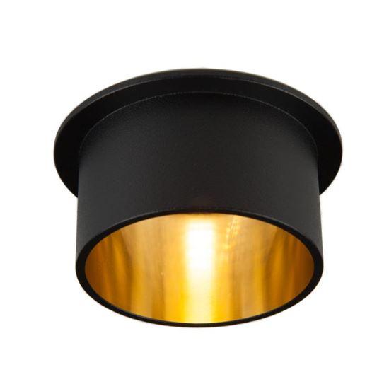 Oprawa OZZO Vita M 112-BL/G okragły pierścień IP20 czarno-złoty