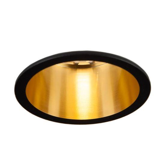 Oprawa OZZO Vita S 112-BL/G okragły pierścień IP20 czarno-złoty