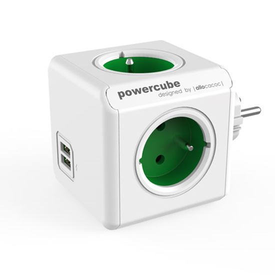 Rozgałęźnik PowerCube Original USB GREEN