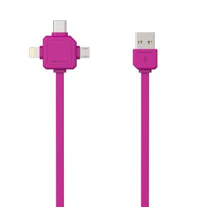 Przewód USB z trzema końcówkami 3w1