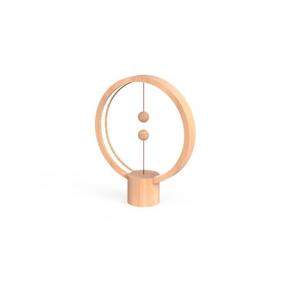 Lampa Heng Balance Lamp Round USB; LIGHT WOOD