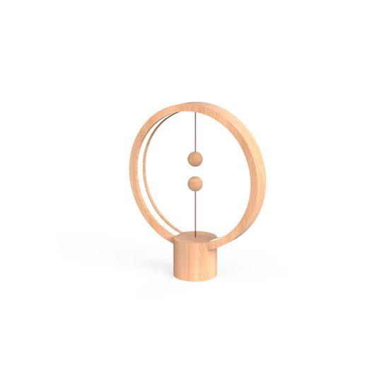 Lampa Heng Balance Lamp Round USB; LIGHT WOOD