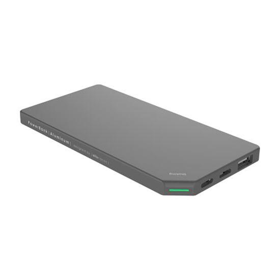 PowerBank Slim Aluminum 5000mAh; GREY