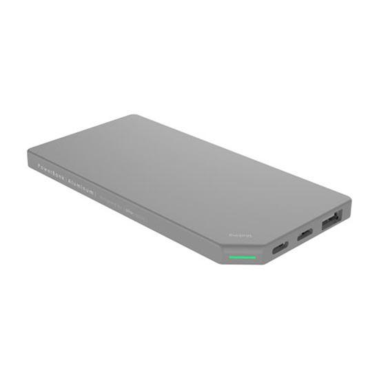 PowerBank Slim Aluminum 5000mAh; SILVER