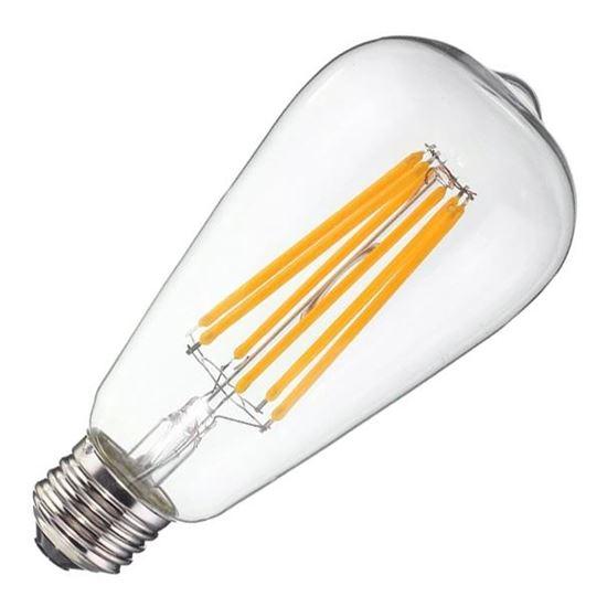 Żarówka LED E27 6W Filament ST64
