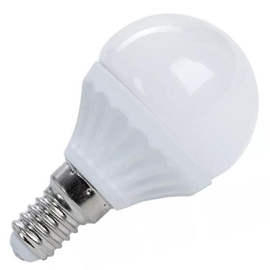 Żarówka LED E14 7W kulka biała ciepła