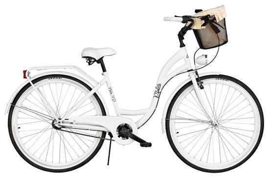 Rower Milos 28'' Nexus 3 biały + kosz