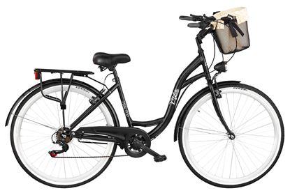 Rower Milos 28'' 7 biegów czarny + kosz