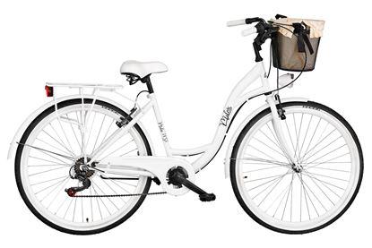 Rower Milos 28'' 7 biegów biały + kosz
