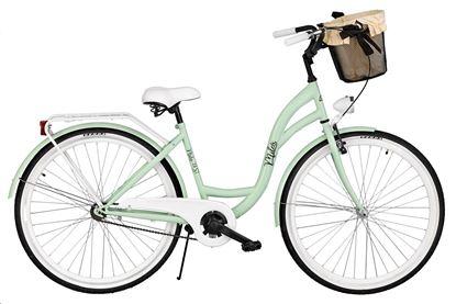 Rower Milos 28'' S1 zielony + kosz