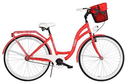 Rower Milos 28'' S1 czerwony + kosz