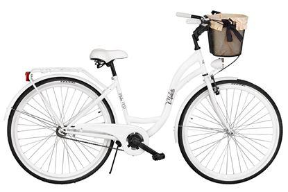 Rower Milos 28'' S1 biały + kosz