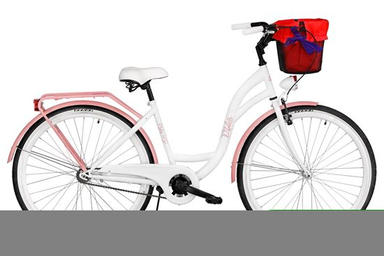 Rower Milos 28'' ECO S1 biało-różowy