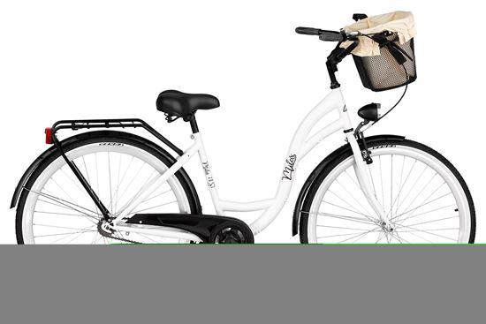Rower Milos 28'' ECO S1 biało-czarny