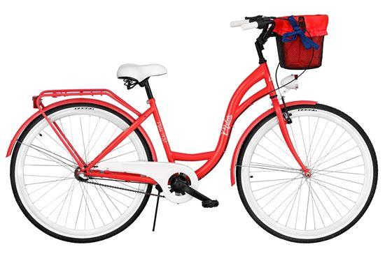 Rower Milos 26'' Nexus 3 czerwony + kosz