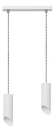 Lampa wisząca Skos 2L biała
