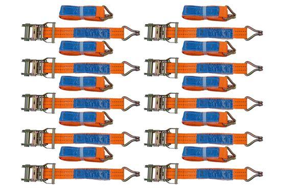 Zestaw 10x pasów transportowych z napinaczem 6M/35mm/2T