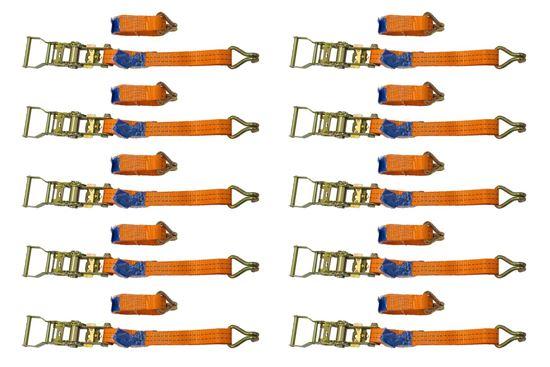 Zestaw 10x pasów transportowych z napinaczem 3M/25mm/1T