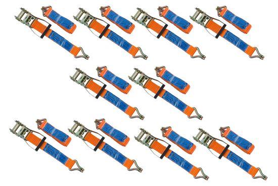 Zestaw 10x pasów transportowych z napinaczem 6M/50mm/5T