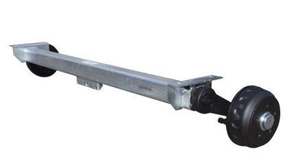 Oś hamowana do przyczepy KNOTT 1400 mm 1350 kg 5x112