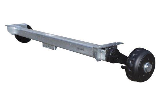 Oś hamowana do przyczepy KNOTT 1200 mm 1350 kg 5x112