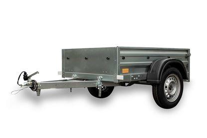 Przyczepa samochodowa 150 x 106 z plandeką i stelażem h400 lekka DMC 750 KG Garden Trailer 150 Unitrailer