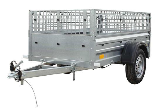 Przyczepa samochodowa 200 x 106 lekka z burtami siatkowymi DMC 750 KG Garden Trailer 200 Unitrailer
