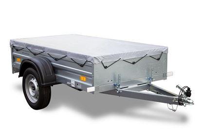 Przyczepa samochodowa 200 x 106 lekka Garden Trailer 200 Unitrailer z pokrowcem płaskim