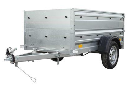 Przyczepa samochodowa 200 x 106 lekka z dodatkowymi burtami Garden Trailer 200 Unitrailer