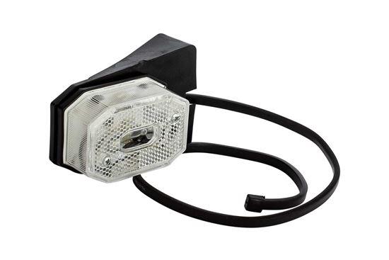 FRISTOM FT-001 Lampa obrysowa biała z uchwytem i odblaskiem