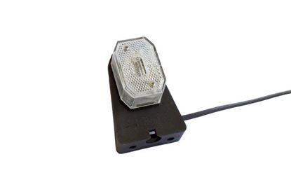 Lampa obrysowa z uchwytem do przyczep Aspöck Flexipoint biały 0,5M