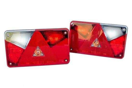 Zestaw lamp tylnych zespolonych Aspöck Multipoint V LED prawa+lewa