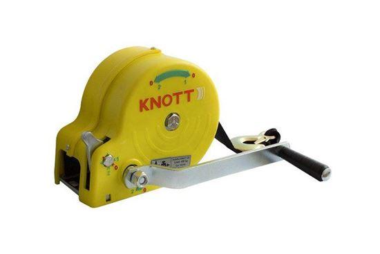 Wciągarka 450 KG z pasem KNOTT obudowa żółta