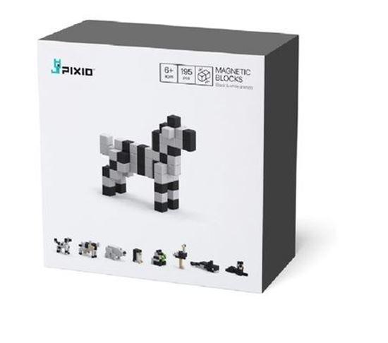 Pixio - Klocki Magnetyczne Black & White Animals