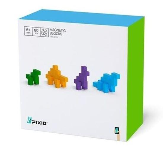Pixio - Klocki Magnetyczne Mini Dinos