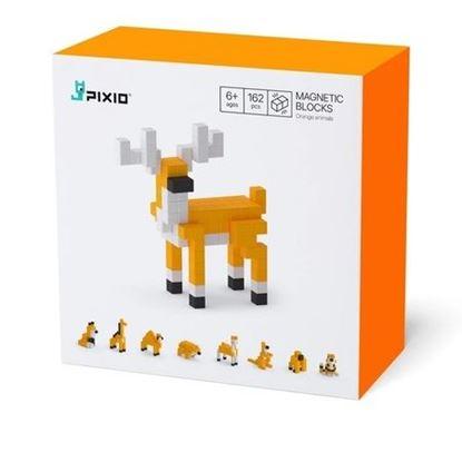Pixio - Klocki Magnetyczne Orange Animals