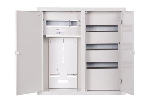 Szafka licznikowa podtynkowa 1-licznikowa 3-fazowy 48 modułów IP31 RL 48 Z zamek 2-099