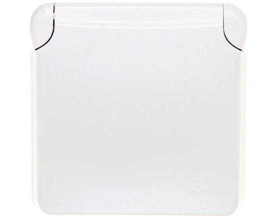 PLEXO55 Gniazdo pojedyncze antybakteryjne z/u 16A białe 070721