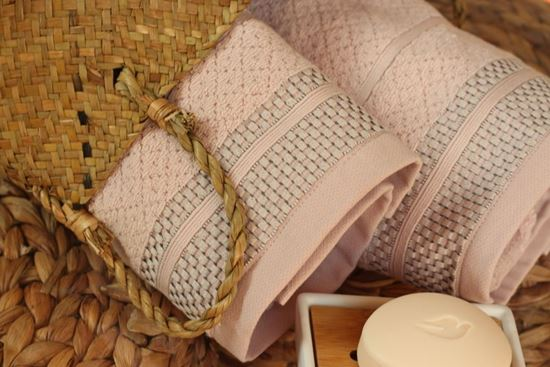 Zestaw ręczników TEXTURE różowy