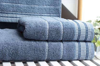 Komplet szaro-niebieskich ręczników