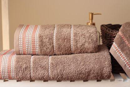 Komplet migdałowych ręczników