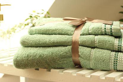 Komplet miętowych ręczników