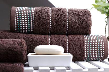 Komplet czekoladowych ręczników