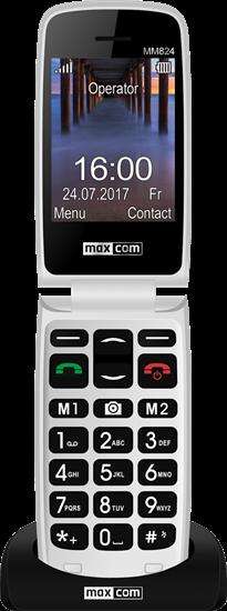 TELEFON KOMÓRKOWY z KLAPKĄ MAXCOM MM824 SENIOR Czarny