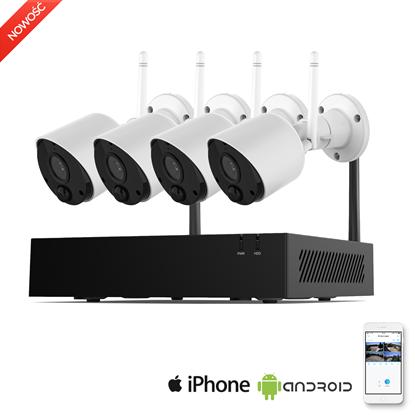 Zestaw 4 szt kamery Wifi plus Rejestrator Wifi
