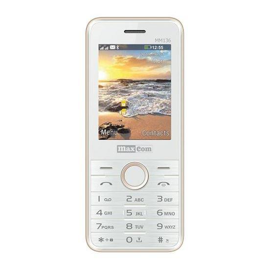 Klasyczny telefon komórkowy MAXCOM Classic MM 136 Biało-złoty