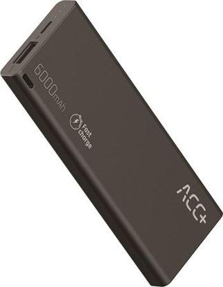 PowerBank ACC+ THIN 6000 mAhz Fast Charge Czarny