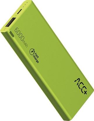 PowerBank ACC+ THIN 6000 mAhz Fast Charge Zielony