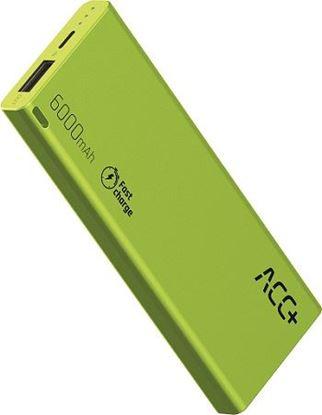 PowerBank ACC+ THIN 6000 mAhz Fast Charge Zielony