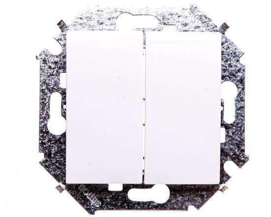 Simon 15 Przycisk podwójny zwierny biały 1591396-030